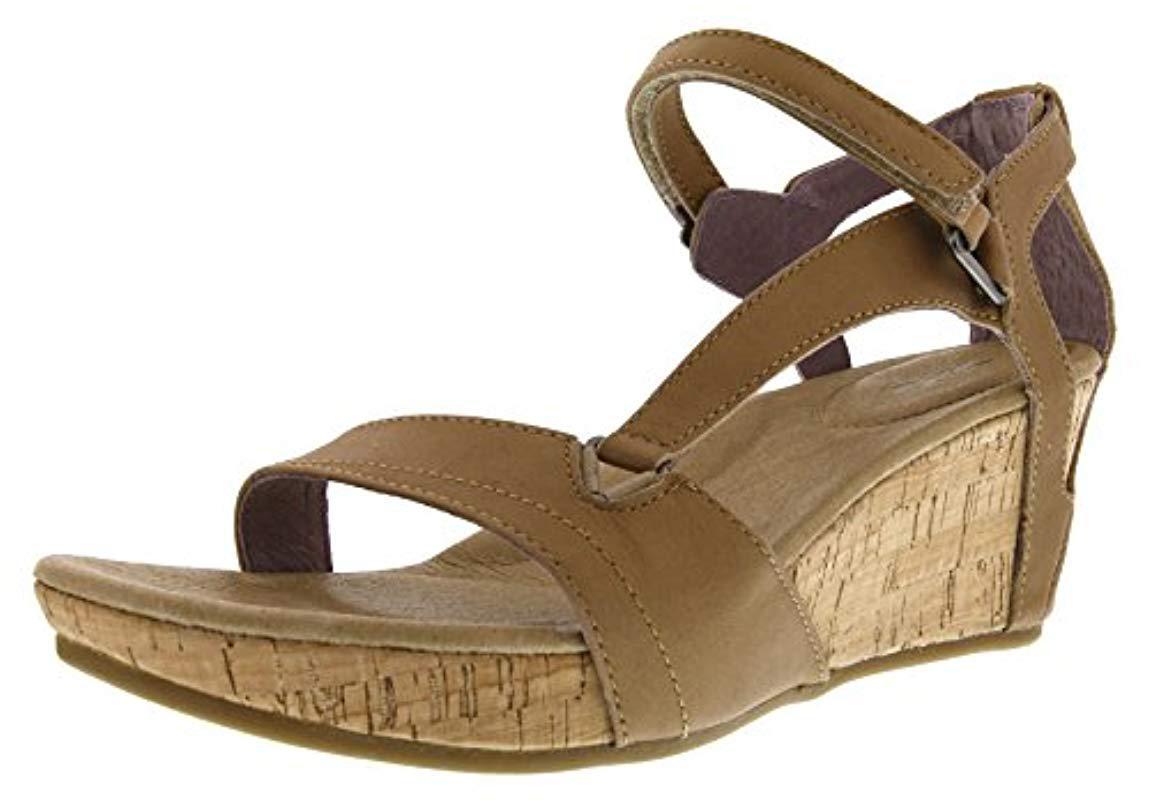 b303afa5d34e teva wedge sandals amazon Lyst - Teva Capri Wedge Sandal in Brown