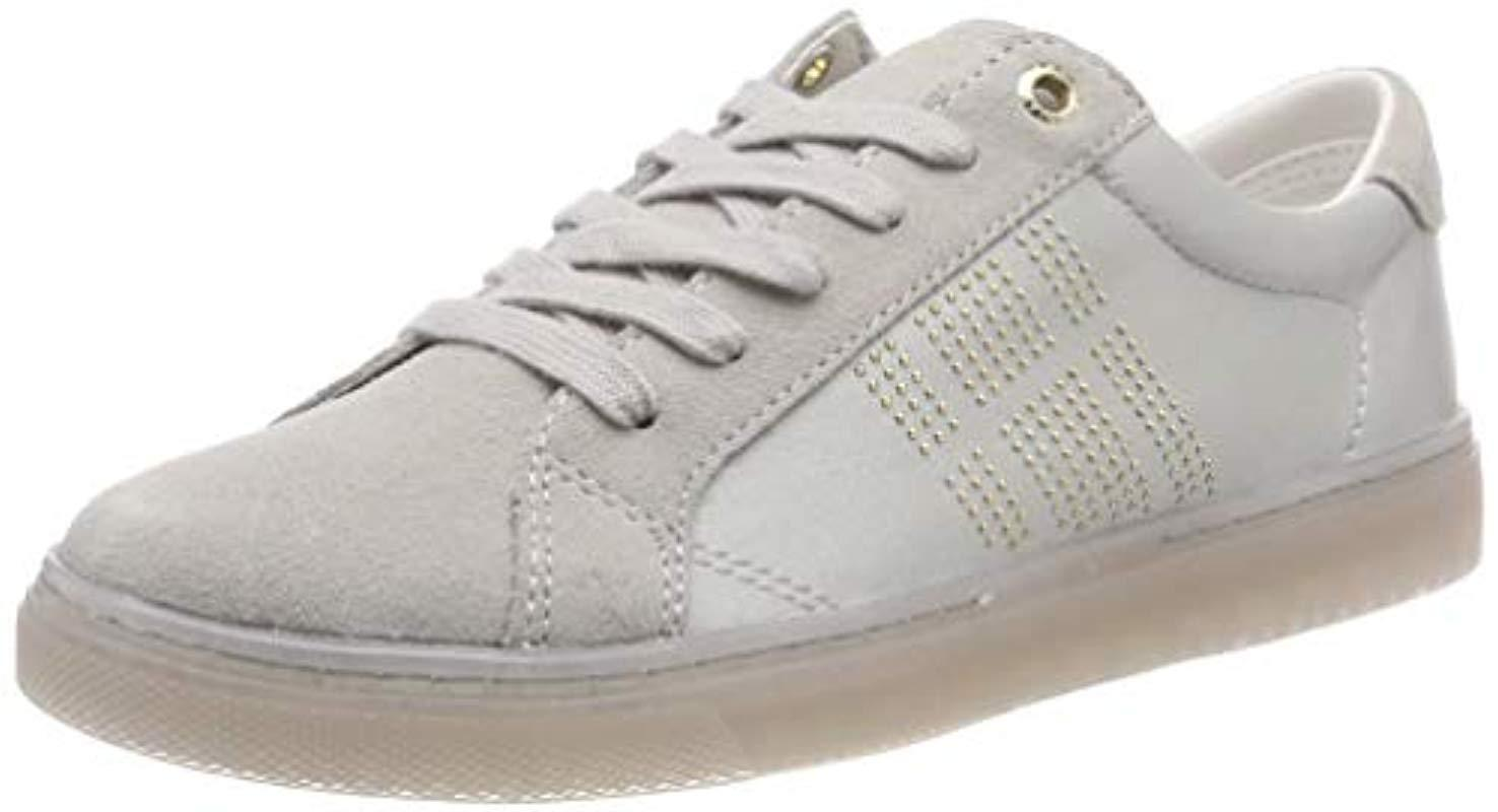 668a951224035 Tommy Hilfiger - Gray 's Sparkle Satin Essential Sneaker Low-top - Lyst.  View fullscreen