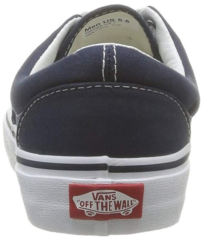 994fca17b33f Lyst - Vans Unisex Adults  Era Classic Canvas Low-top Trainers in Blue for  Men