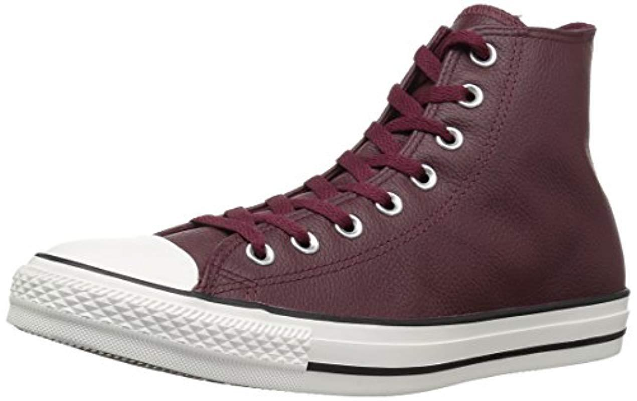 a5b4515a2107 Converse. Men s Purple Chuck Taylor All Star Tumbled Leather High ...