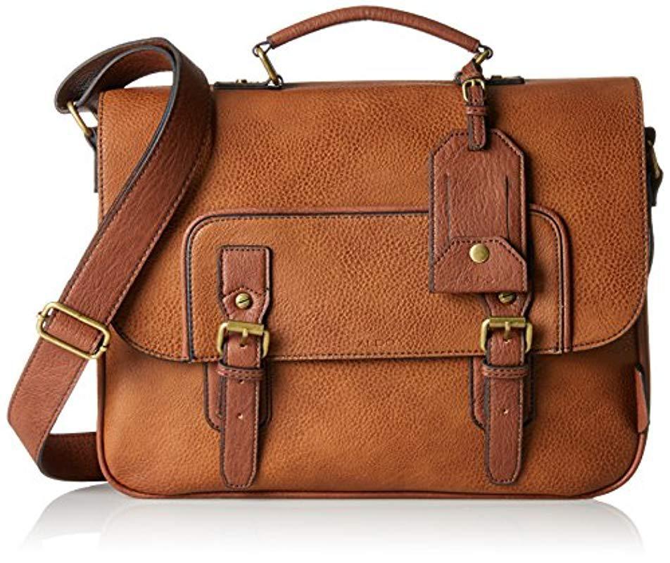 Aldo Men S Brown Norman Laptop Bag