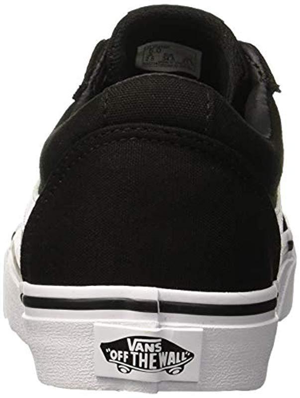 3f1d611b7bd Vans Ward Canvas Low-top Sneakers in Black - Lyst