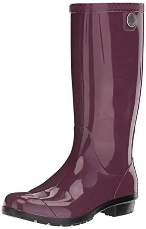 6c0e5b034e4 Lyst - UGG Shaye Rain Boot in Purple