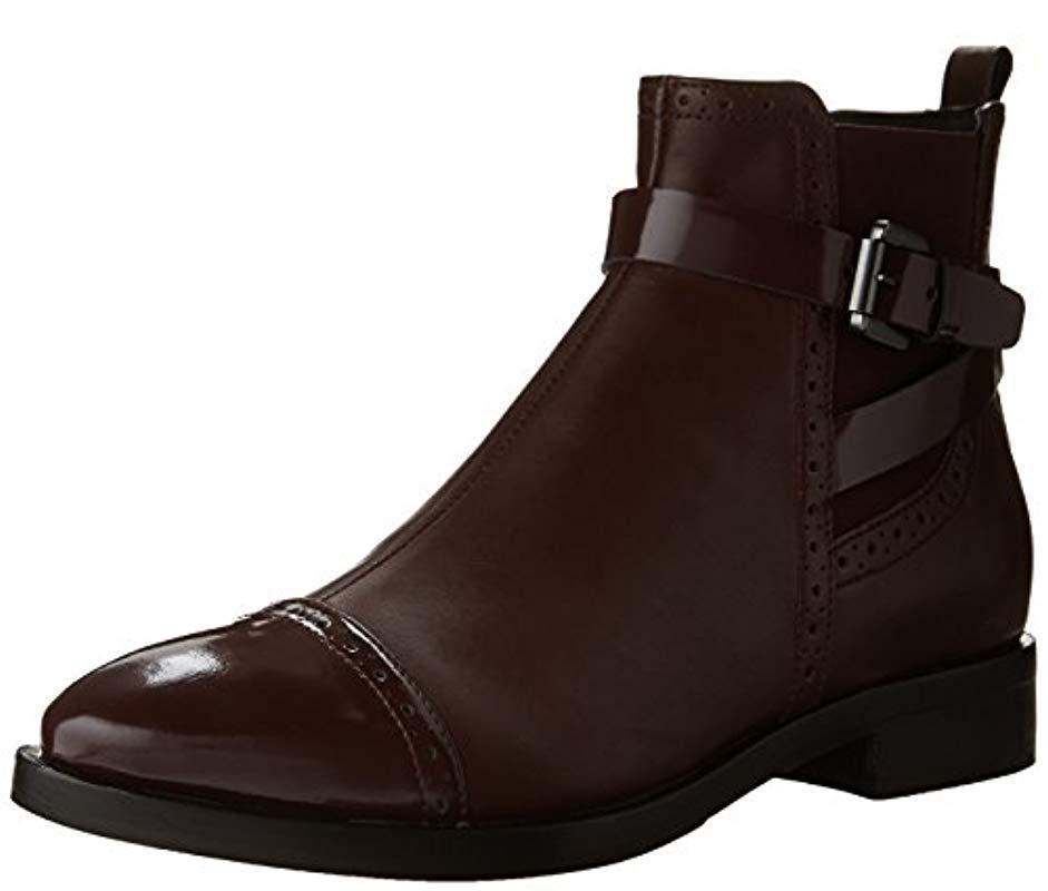 0b0f32b5b035e Geox  s Donna Brogue C Ankle Boots in Brown - Lyst