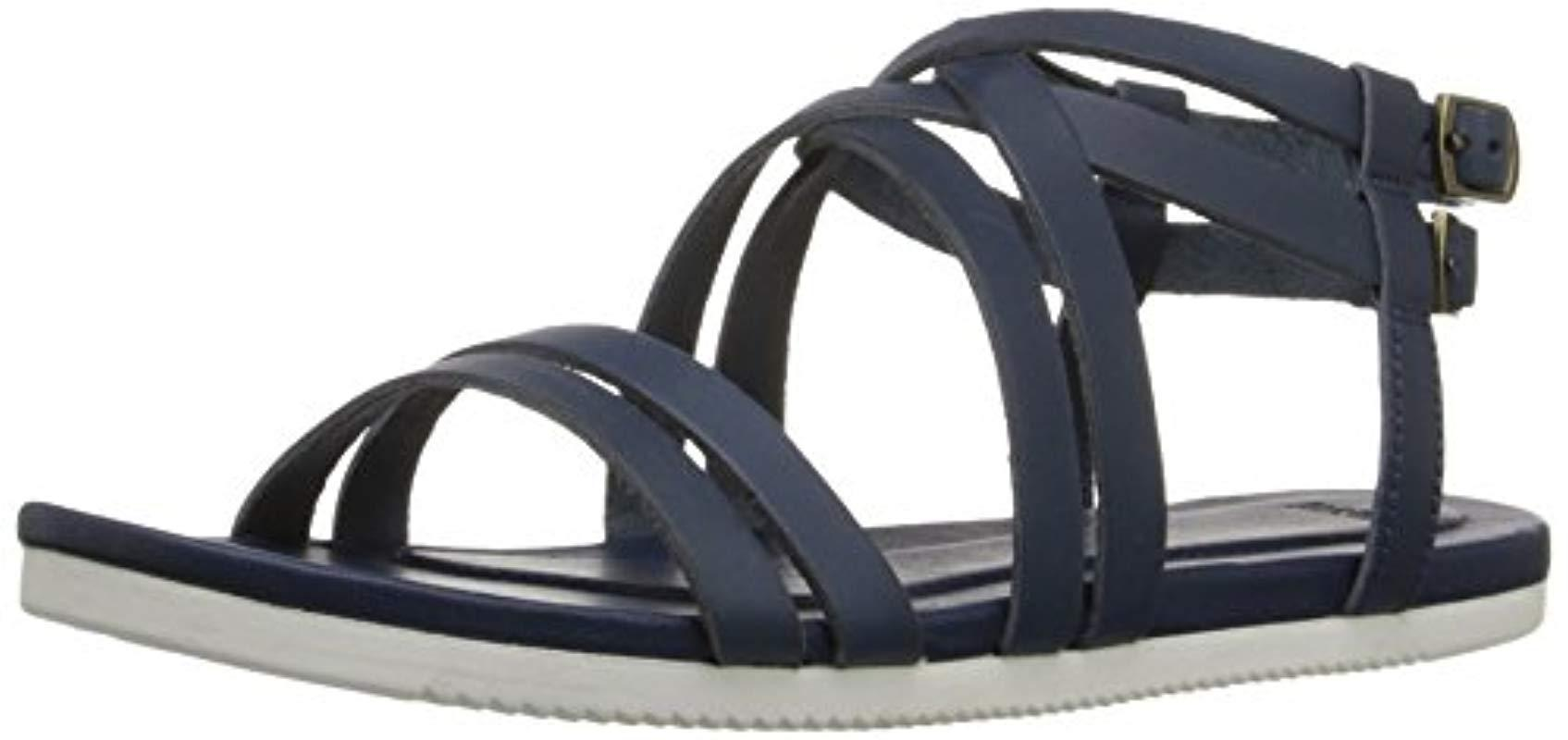 697ad08dbe7f Teva Avalina Crossover Leather Sandal in Blue - Lyst