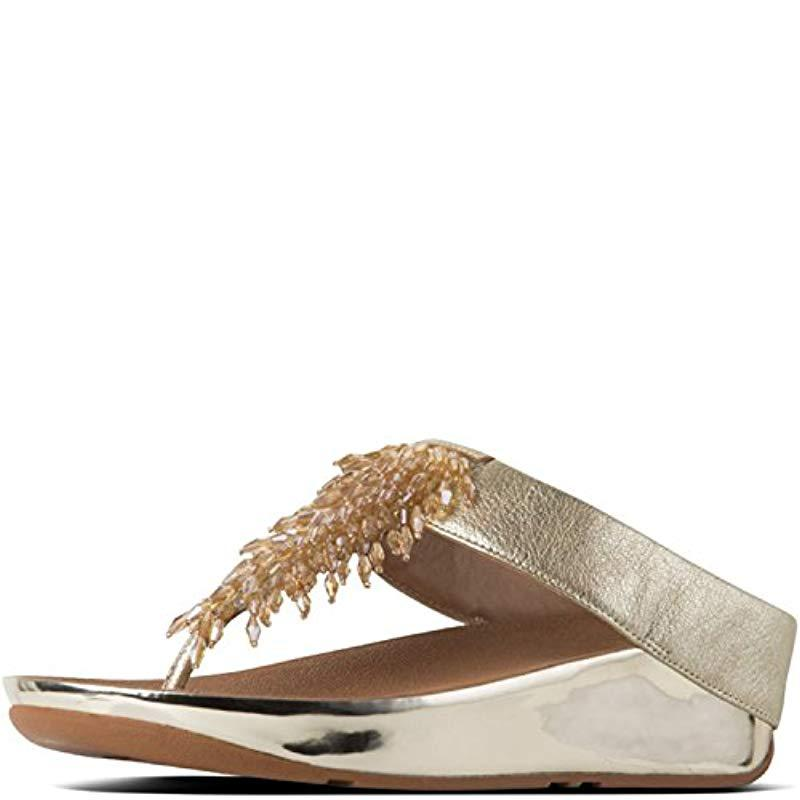 705c3f619aa3 Lyst - Fitflop Rumba Toe-thong Sandals Open in Metallic