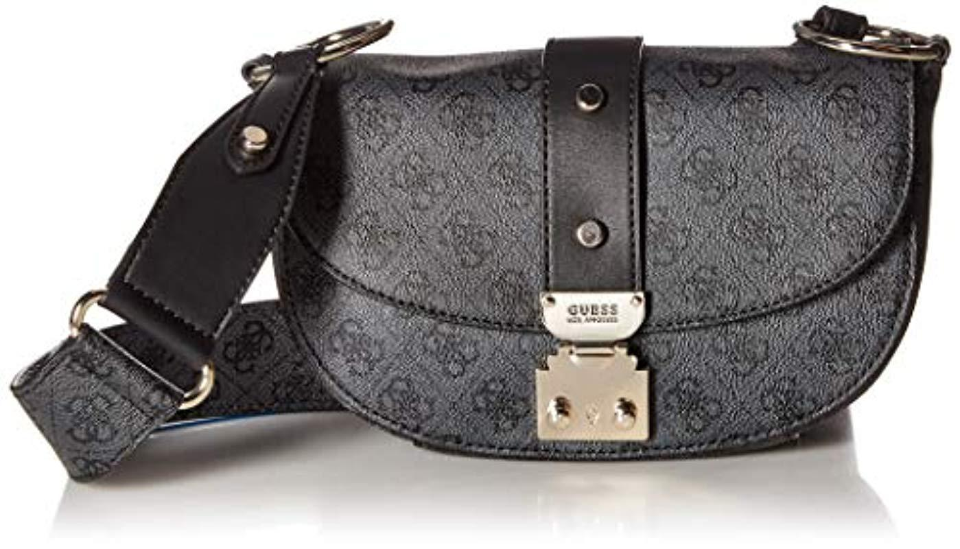 c5455abdfbe Guess - Black Florence Cross-body Bag - Lyst. View fullscreen