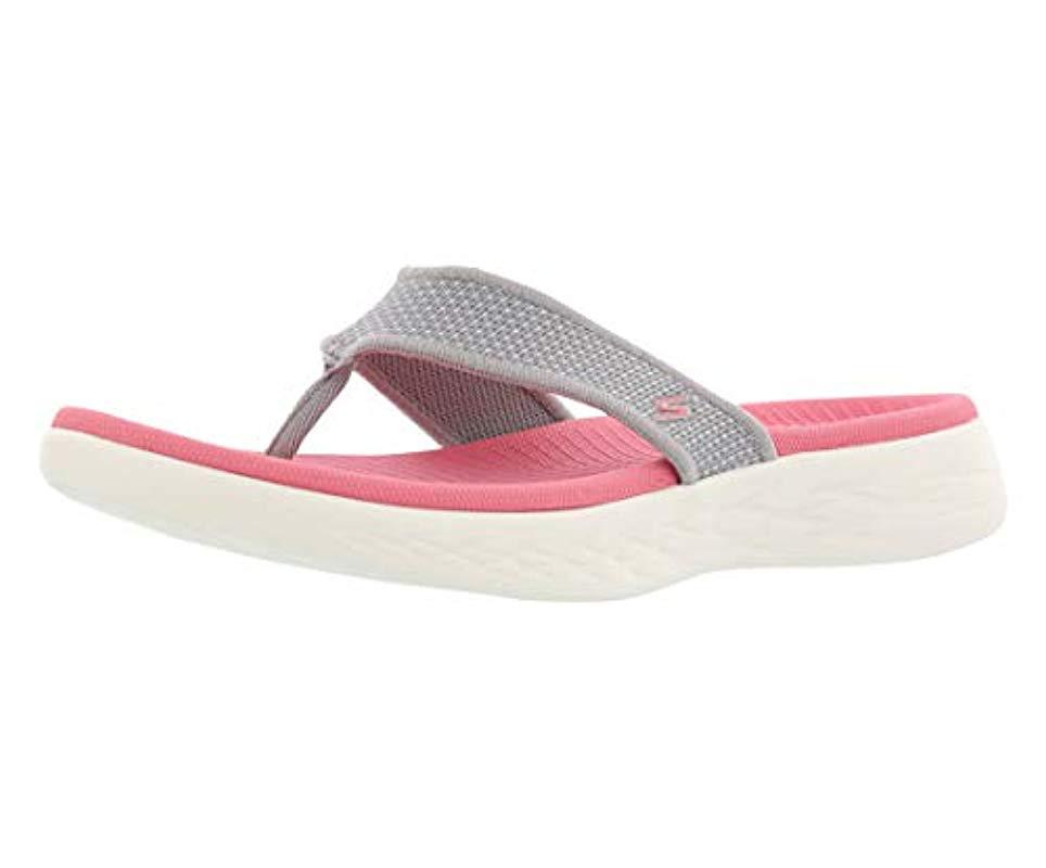 a8844b8f817d Lyst - Skechers On-the-go 600-15300 Flip-flop in Pink - Save 10%