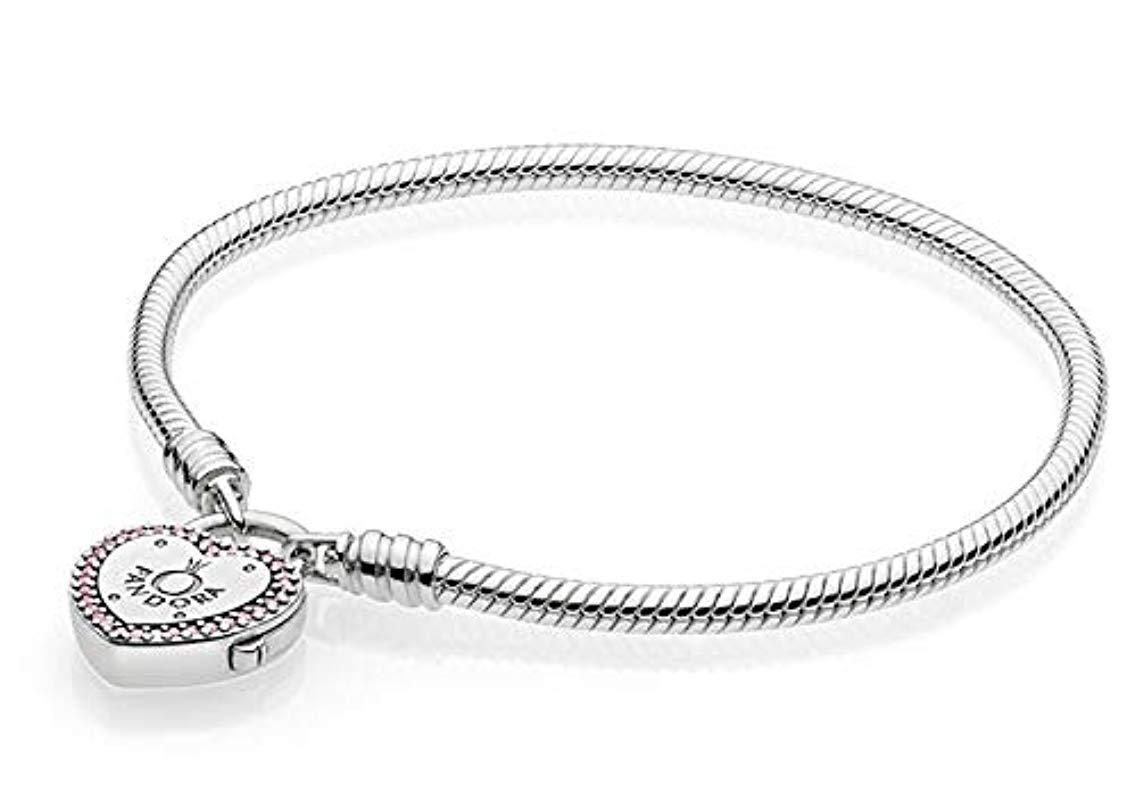4f5ba86c3 Pandora - Metallic Pulsera charm Mujer plata - Lyst. Ver en pantalla  completa