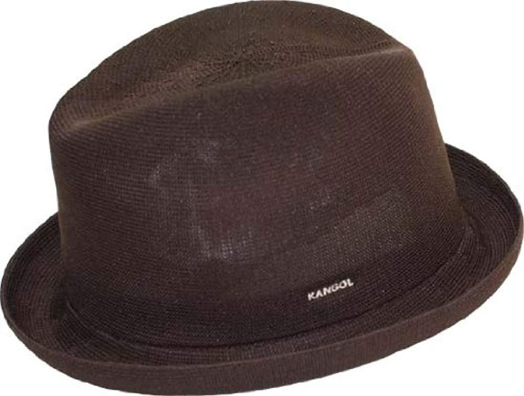 ce3d1ebe18b1c Kangol - Brown Tropic Player Fedora Hat for Men - Lyst. View fullscreen