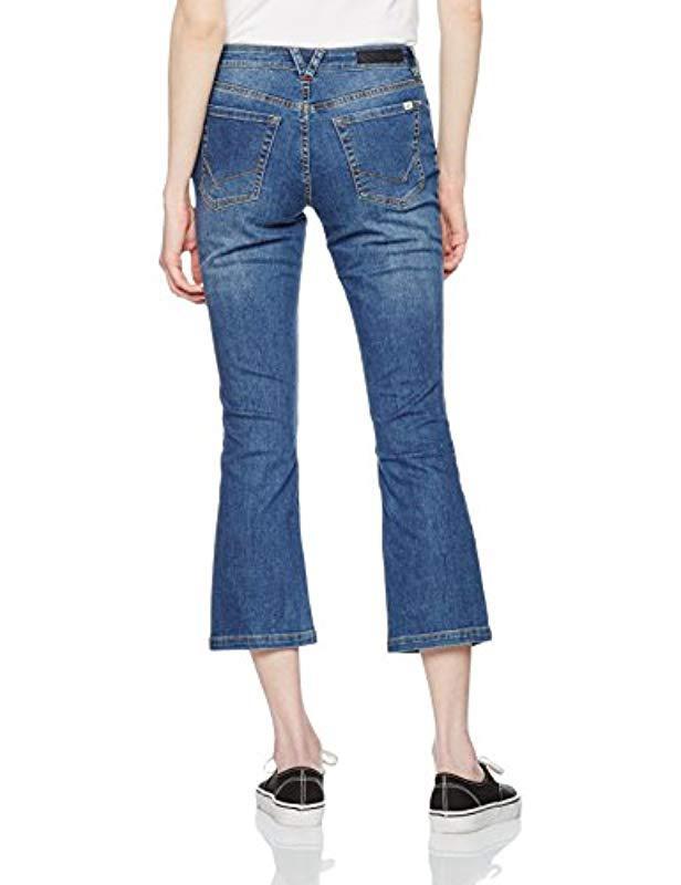 Vans Crop Flared Jeans in Blue - Lyst 9af30f6ec38