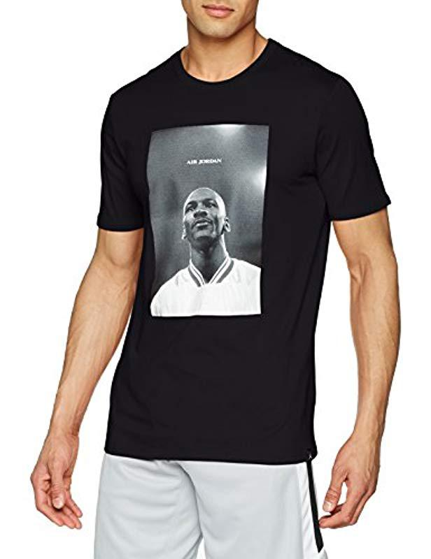 a4fe042d4bd5f5 Nike M Jsw Tee Air Jordan Photo T-shirt in Black for Men - Lyst