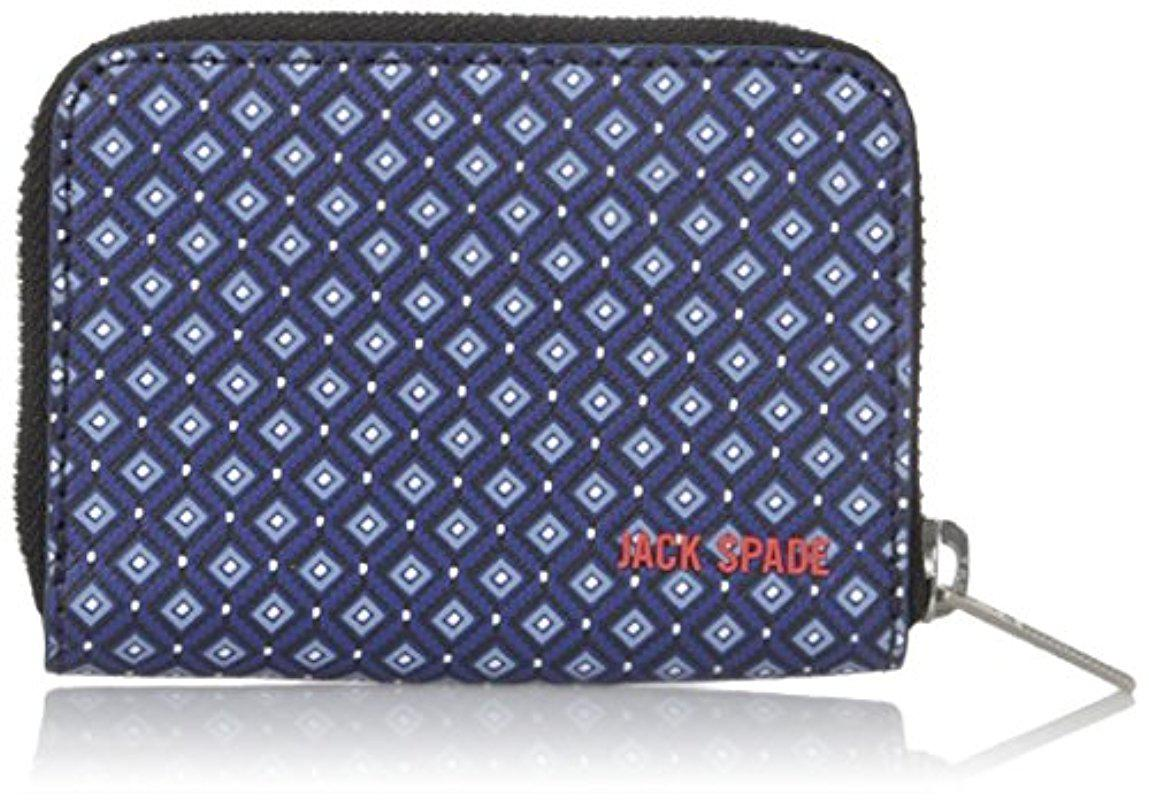Lyst - Jack Spade Mosaic Tile Barrow Leather Coin Wallet in Blue