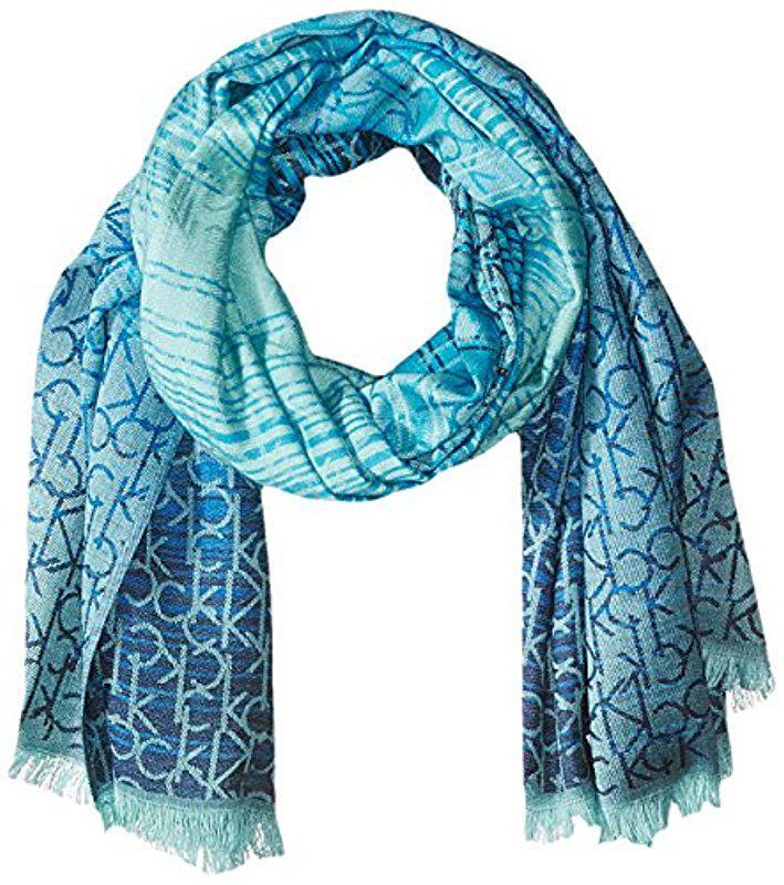 soft two-tone scarf - Green CALVIN KLEIN 205W39NYC AWQDCx1yK