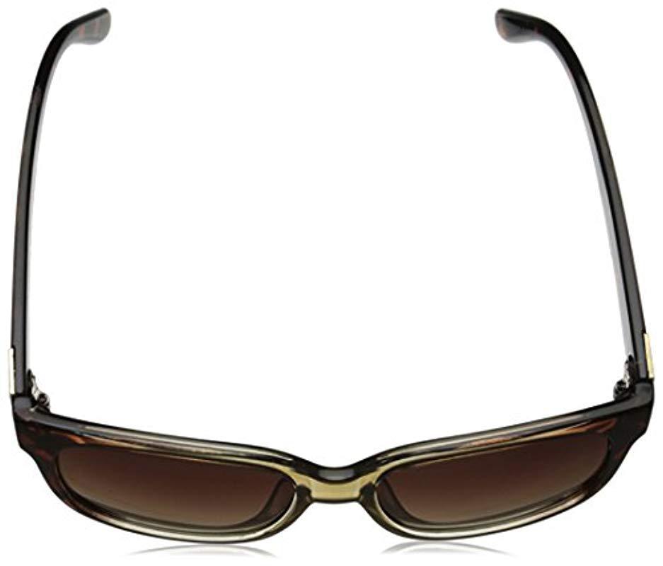 4e641ca092e2a Lyst - Adrienne Vittadini Av1027 Square Sunglasses in Brown