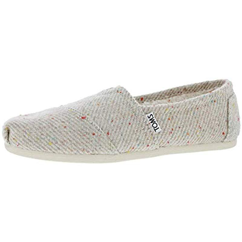02eb8b5bd634d Lyst - TOMS Classic Canvas Slip-on in Natural