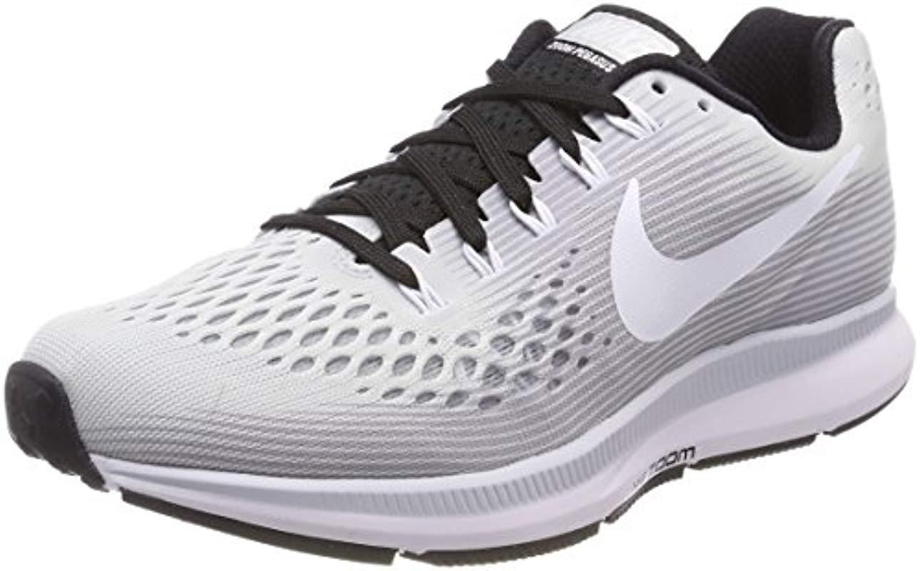 0e63f7cb7a920 Nike  s W Air Zoom Pegasus 34 Tb Running Shoes in Metallic - Lyst