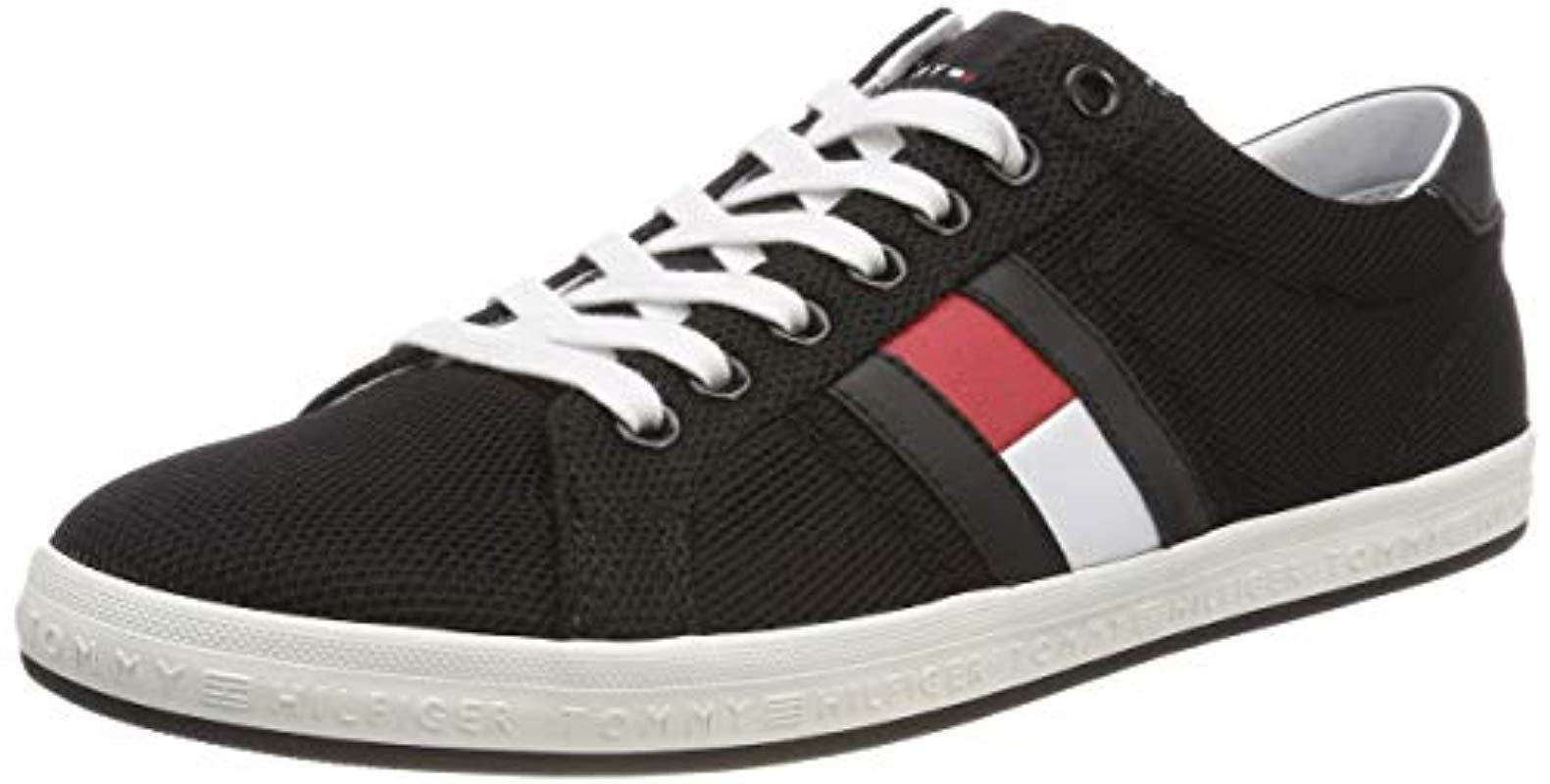 621bde275 Tommy Hilfiger Essential Flag Detail Sneaker Trainers in Black for ...