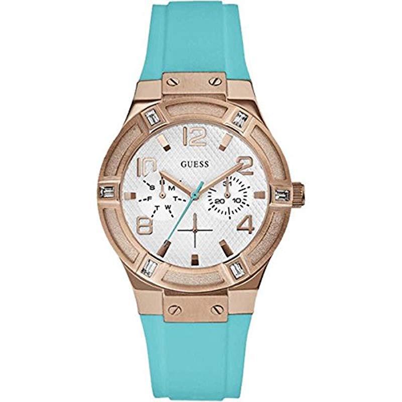 33aca65446f5 Guess - Blue Reloj Análogo clásico para Mujer de Cuarzo con Correa en Acero  Inoxidable W0564L3. Ver en pantalla completa