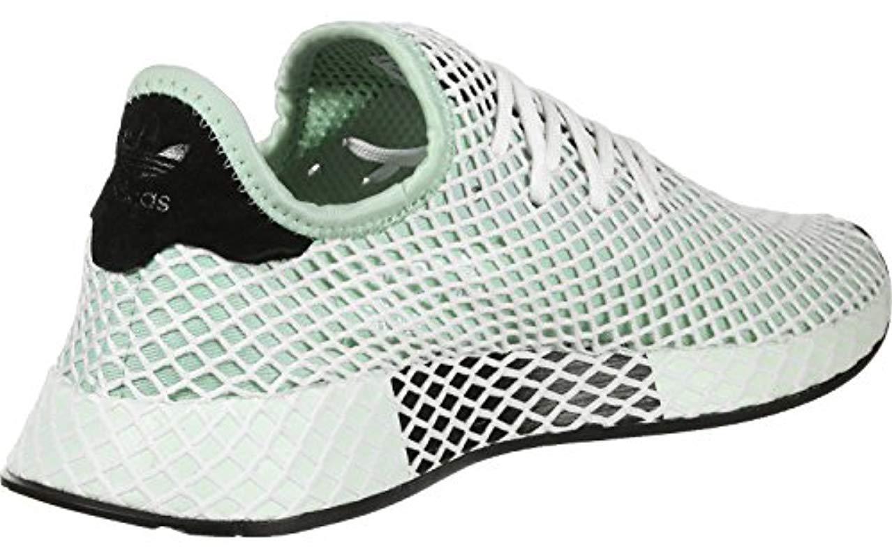 cheaper cddb7 4077e adidas Deerupt Runner W Gymnastics Shoes in Green - Lyst