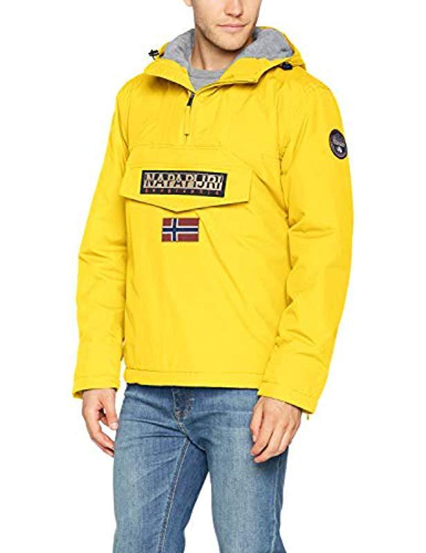 Napapijri Rainforest Padded Jacket Yellow in Yellow for Men - Save ... b4c68e827e0d