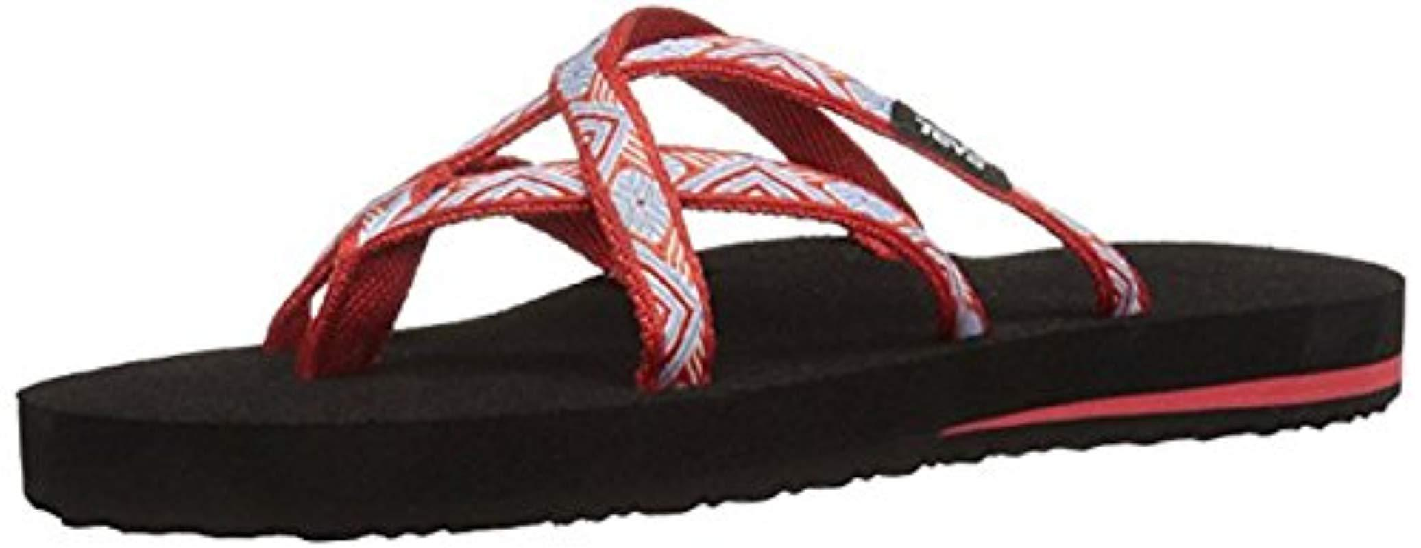 240a465e7 Teva   s Olowahu Flip Flops in Red - Save 13.63636363636364% - Lyst
