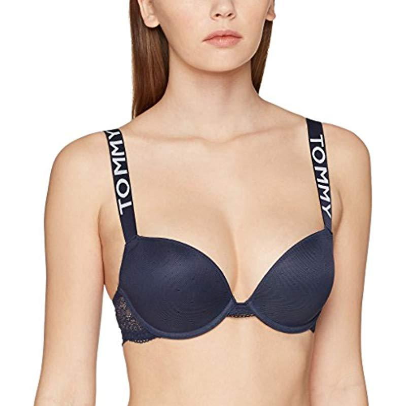 75500bb39c400 Tommy Hilfiger Push-up Bra in Blue - Lyst