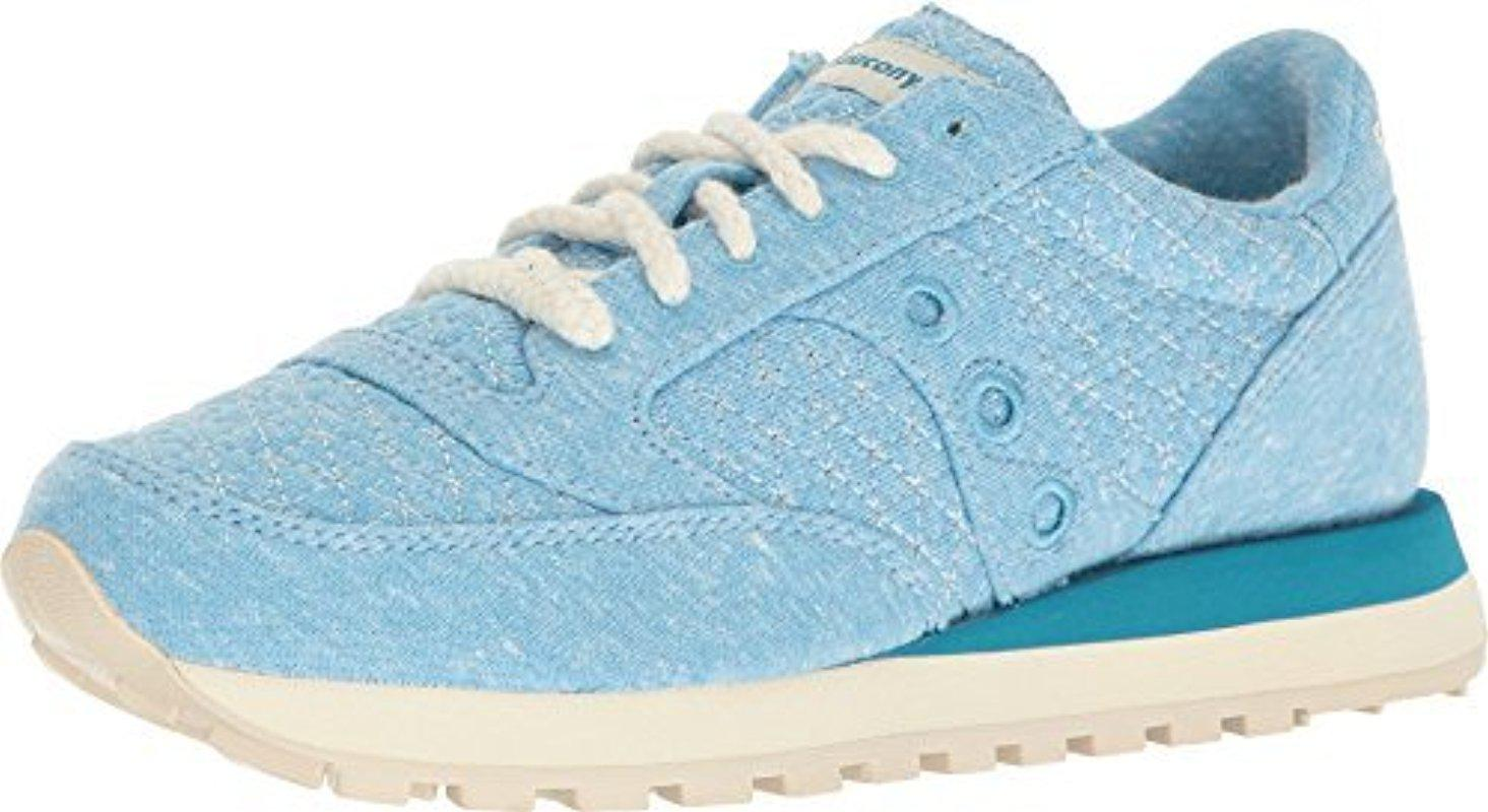 differently d0f59 afd3e Lyst - Saucony Jazz Original Cozy Quilted Sneaker in Blue