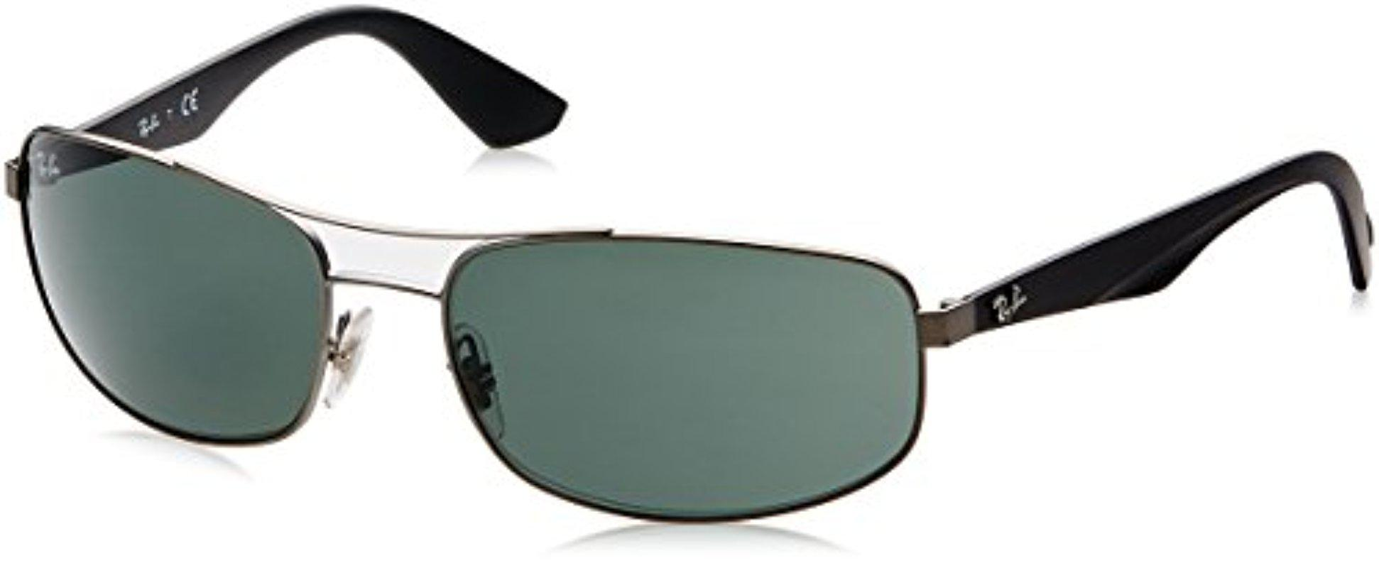 c708025b32 Lyst - Ray-Ban Metal Man Sunglass - Matte Gunmetal Frame Gray Green ...