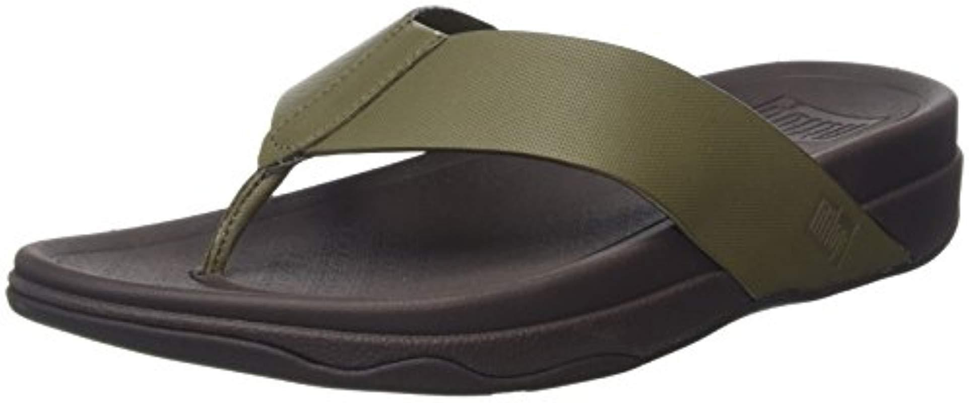 d39ab2d48fd Fitflop Surfer (leather) Open-toe Sandals in Green for Men - Lyst