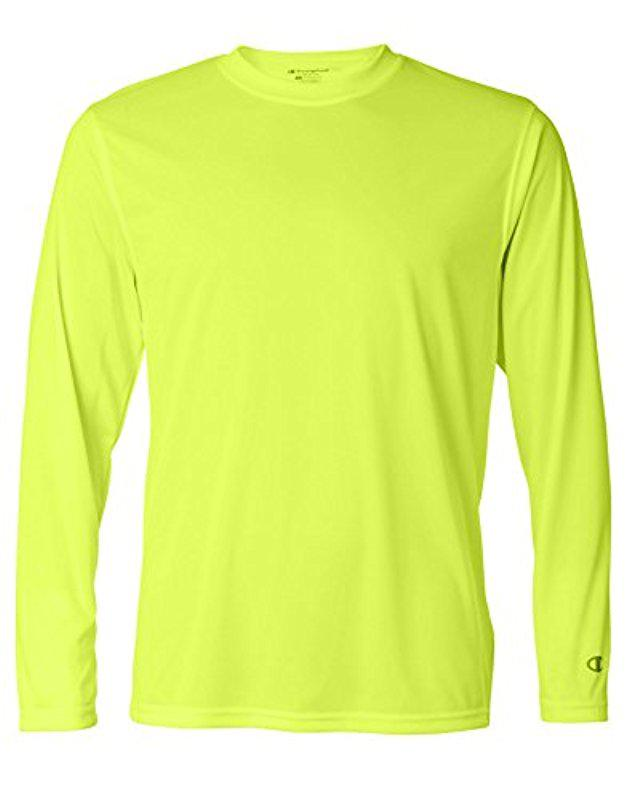 4c97b1eac9 Champion – Yellow Long-sleeve Double-dry Performance T-shirt for Men -.  View fullscreen