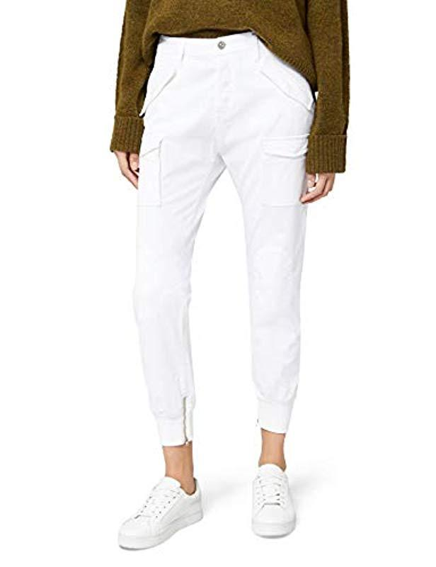 Pilar 's Women's Combat Dark Boyfriend Green Jeans Replay White wOzqxCntxT