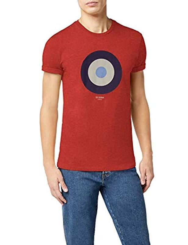 c82d29d32 Ben Sherman 's Target Tee T-shirt in Red for Men - Save 53% - Lyst