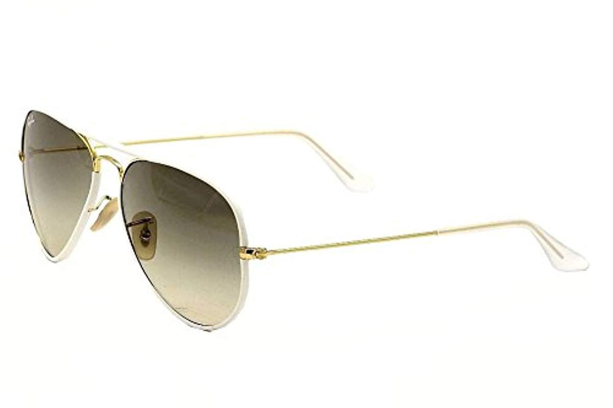e291e2319 Ray-Ban Unisex Rb3025jm - 146/32 Aviator Full Color Sunglasses White ...