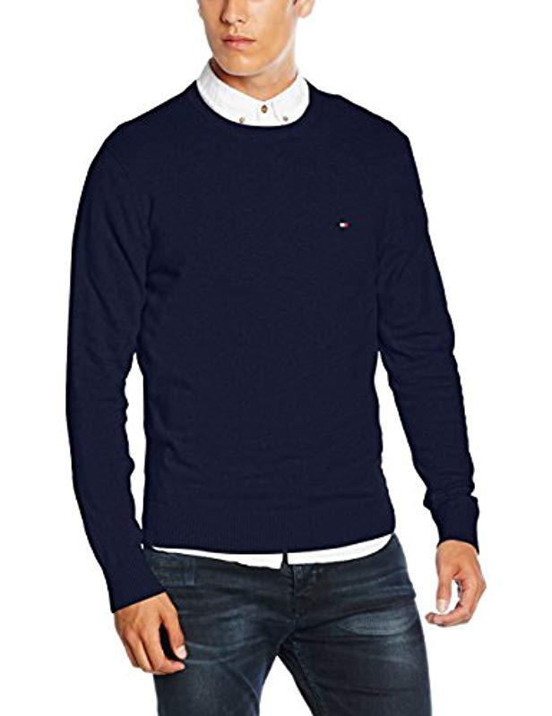 Tommy Hilfiger Pima Ctn Cashmere C-nk Cf Jumper in Blue for Men - Lyst c0dce607754