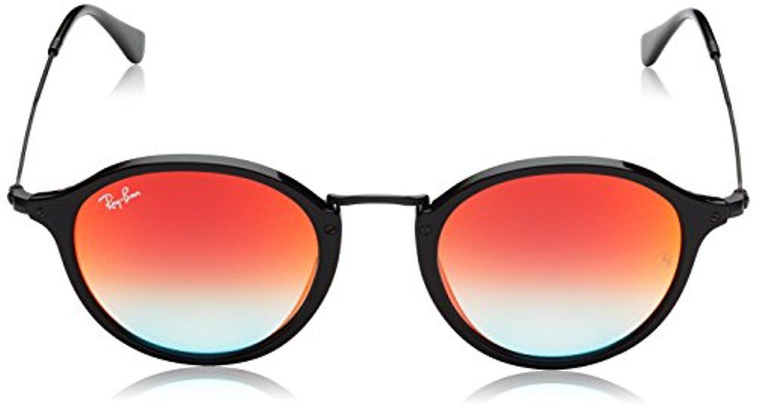 fbfd5265e1 Lyst - Ray-Ban Rb2447 901 4w Non-polarized Round Fleck Sunglasses ...