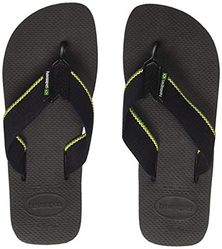 21cad6a0759e9 Havaianas - Black Urban Brasil Flip Flops for Men - Lyst. View fullscreen