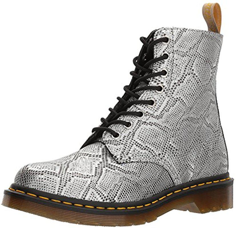 Dr. Martens 1460 VEGAN CHROME PASCAL - Lace-up boots - gunmetal chrome metallic i6XbQ