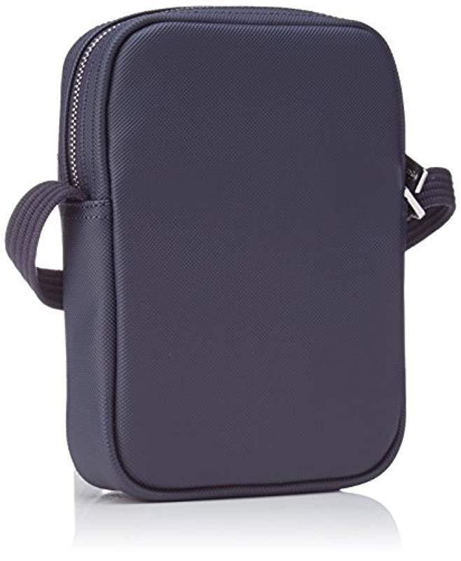 Lacoste Sac Homme Access Premium Shoulder Bag in Blue for Men - Lyst 75530ab2d1a9