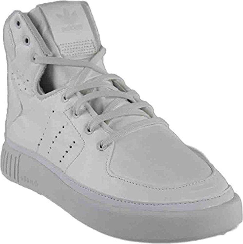 factory price 77584 2d833 adidas Originals. Men s White Tubular Invader Strap Fashion Sneakers