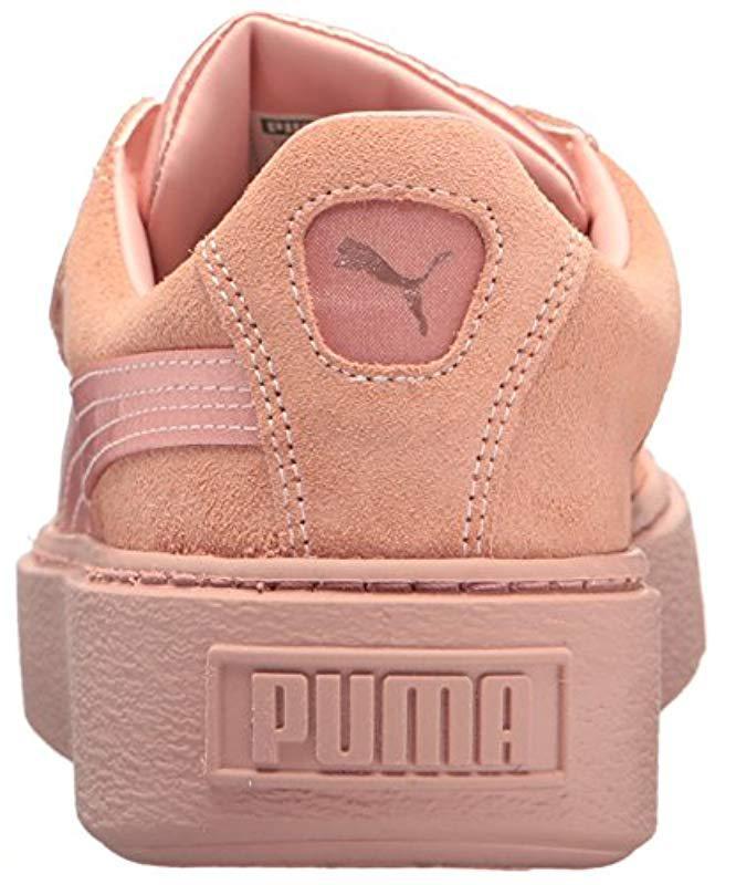 003c24ba62025b Lyst - PUMA Platform Strap Satin En Pointe Wn Sneaker - Save 47%
