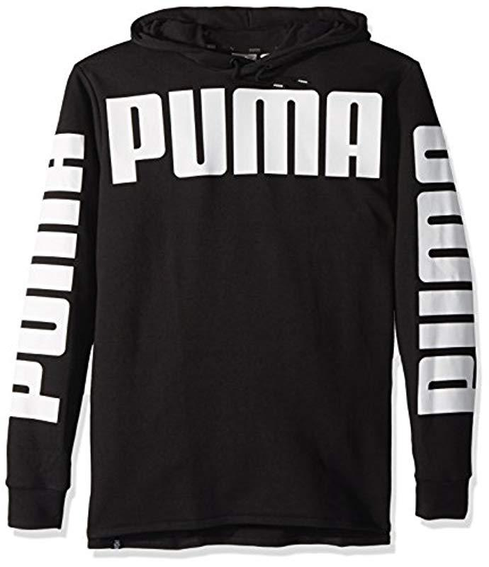 b68a32dcbc1e PUMA - Black Rebel French Terry Hoodie for Men - Lyst. View fullscreen