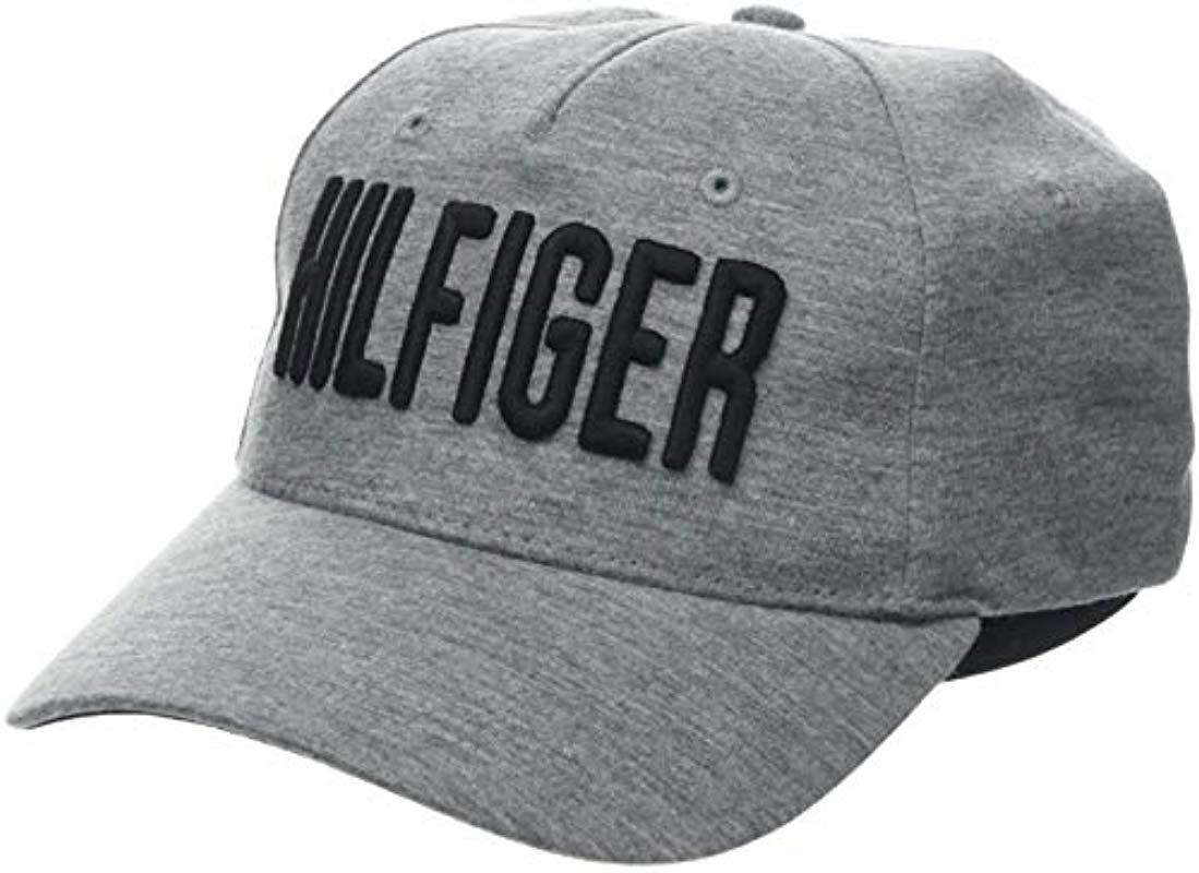 533169ea9c21 Tommy Hilfiger Hilfiger Print Cap Baseball in Gray for Men - Lyst