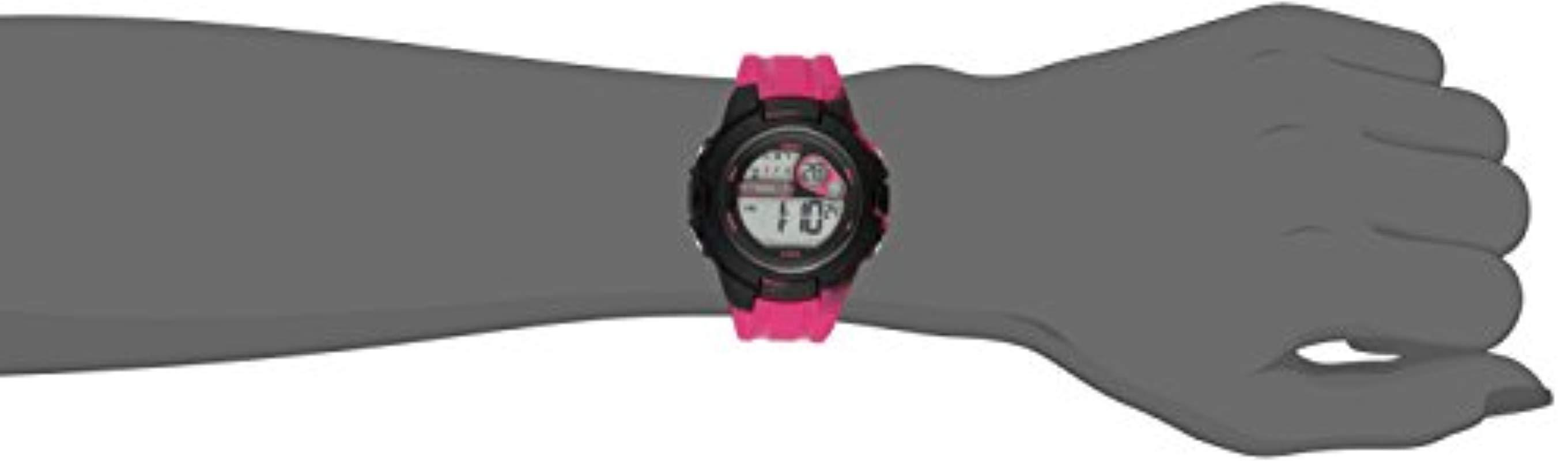 cf56090eee Lyst - Roxy Rx 1014pkbk The Tour Pink And Black Digital Chronograph ...