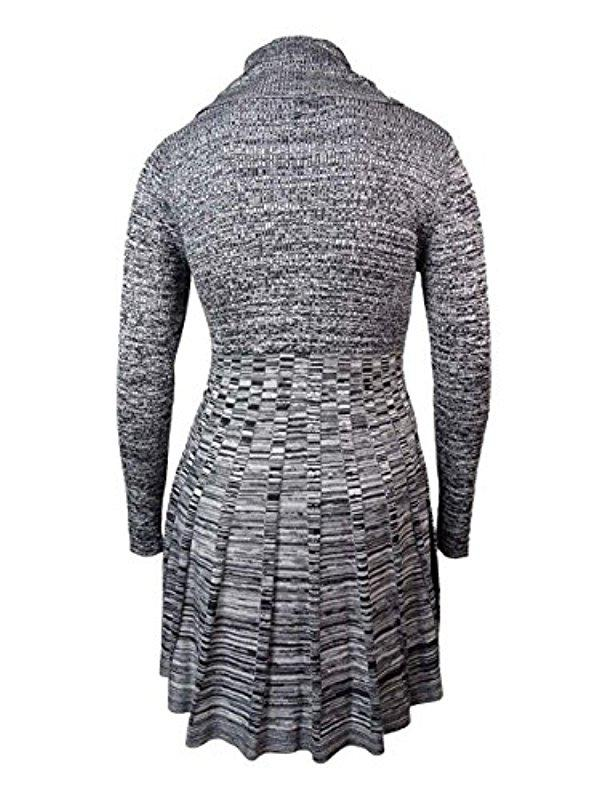 Lyst Calvin Klein Plus Size Printed Long Sleeve Cowl Neck Sweater