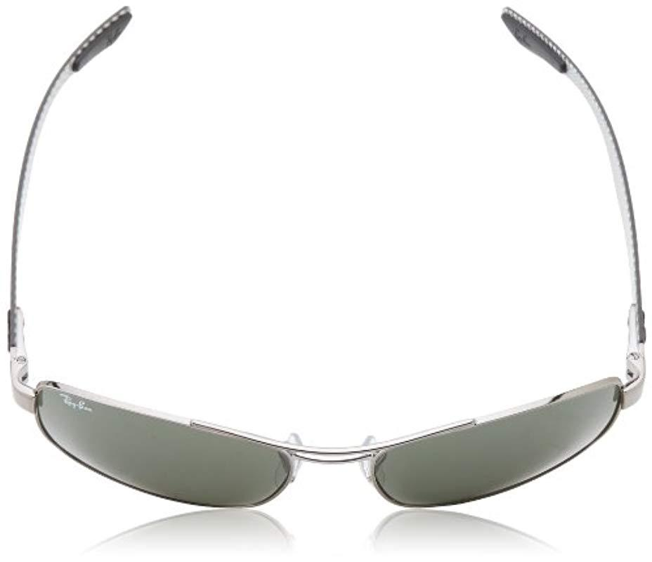 556166c24f Ray-Ban - Tech Carbon Fibre Rectangle Sunglasses In Black Crystal Green  Polarised Rb8316 002. View fullscreen