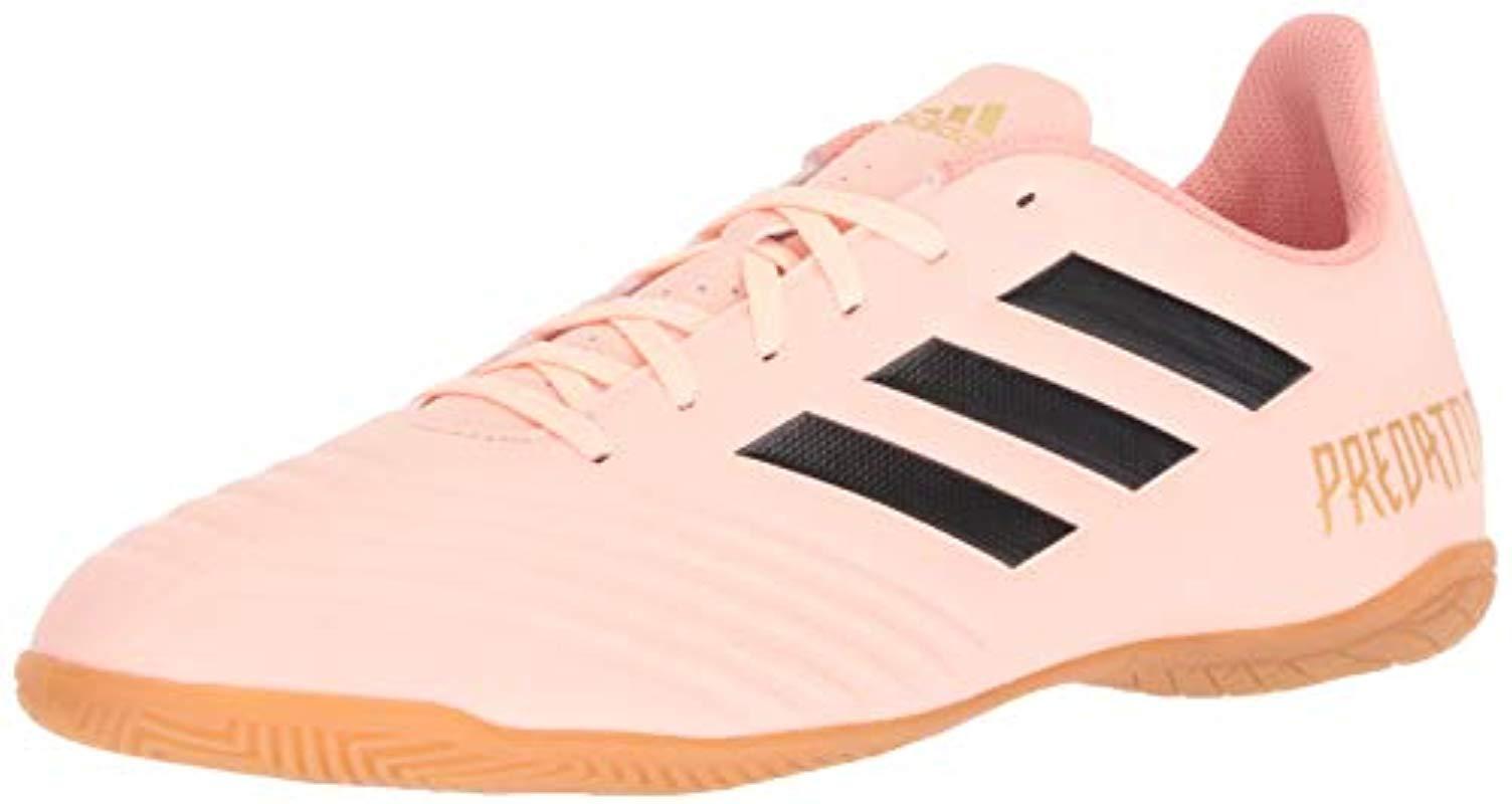 154444db390 Lyst - adidas Predator Tango 18.4 Indoor Soccer Shoe in Pink for Men