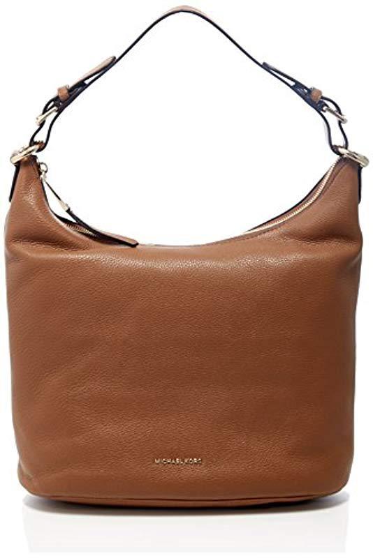 6439a230e0d6 Michael Kors Lupita Shoulder Bag in Brown - Lyst