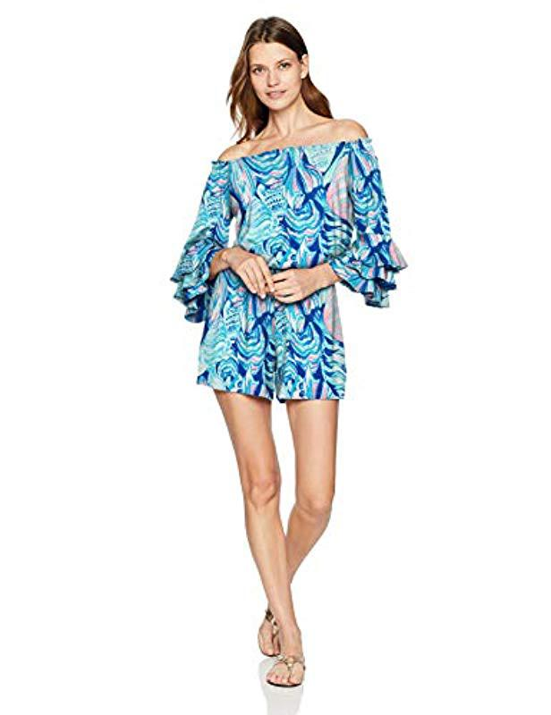 ea6e0a013df5 Lyst - Lilly Pulitzer Calla Romper in Blue - Save 2%