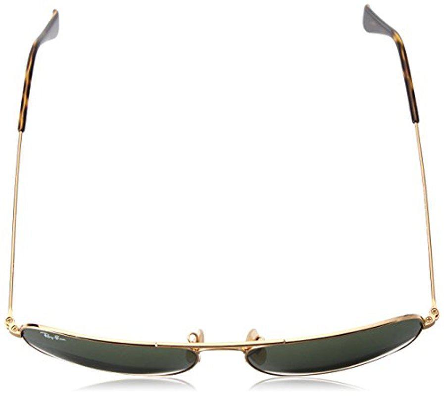 004f6902cec Lyst - Ray-Ban Caravan - Gold Frame Dark Green Lenses 58mm Non ...